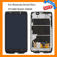 For Motorola Droid Ultra XT1080 MAXX 1080M LCD Screen Touch Digitizer Frame USA