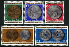 Papua New Guinea 410-414, MNH. New Coinage.Butterfly,Bird,Turtle,Cuscus, 1975