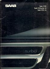 Saab 9000 CD Saloon 1988-89 UK Market Sales Brochure i16 SE Turbo S CDE