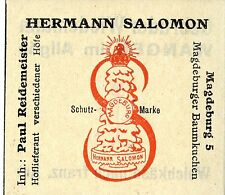 Hermann Salomon Magdeburg Magdeburger ALBERO TORTA trademark 1912