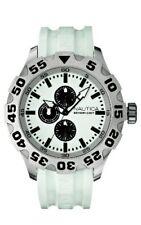 Nautica Men N15583G BFD 100 Multifunction White Resin