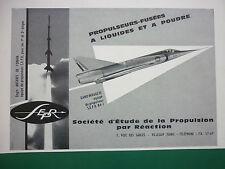10/1961 PUB SEPR ENGIN ANTARES ONERA MIRAGE III PROPULSEUR FUSEE SEPR 84-I AD
