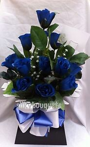 Artificial Silk Flowers Bouquet Dozen Rose Gift Bouquet Box Nationwide Delivery
