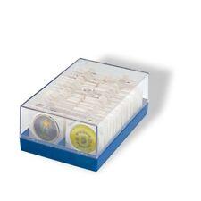 BOX/CONTENITORE IN PLASTICA PER CONTENERE FINO A 100 MONETE IN OBLO/CARTONCINI