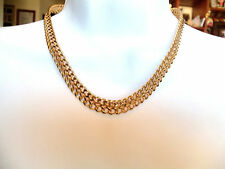 Vintage Monet Signed Double Chain Goldplated Necklace Estate Jewelry
