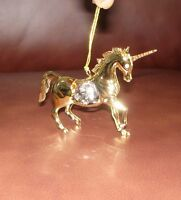 UNICORN~24K GOLD PLATED FIGURINE ADORNED USING SWAROVSKI CRYSTAL ELEMENTS