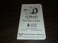 OCTOBER 1965 GM&O GULF, MOBILE & OHIO RAILROAD PUBLIC TIMETABLE
