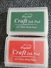 2 x Brand New Ink Pads Orange and Green