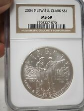 New listing 2004 P Lewis & Clark Commemorative Silver Dollar Ngc Ms69