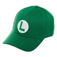 Super Mario Luigi Logo Green Flex Hat NEW IN STOCK