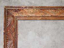 GRAND CADRE ANCIEN EN BOIS SCULPTE DE FORMES GEOMETRIQUES 49.5CMX60CM   CADR587