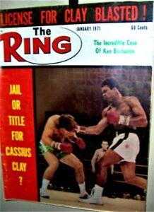 MUHAMMAD ALI The RING  Magazine January 1971 ERNIE TERRELL COOL