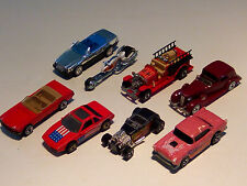 VINTAGE HOT WHEELS KONVOLUT 8 AUTOS FORD,CHEVY,MERCEDES,THE HOT ONES;HOT RODS