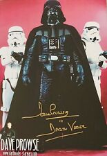 Dave Prowse HAND SIGNED Star Wars 12x8 Darth Vader Photograph *In Person* COA