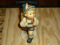 "Vtg TMK5 M.I. Hummel Porcelain Figurine School Boy 7.5"" #82/II Goebel Germany"