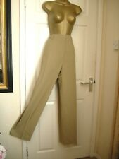 24 L TALL MICHELE TROUSER BEIGE VIRGIN WOOL MIX ELASTIC SIDE PANELS  SUMMER