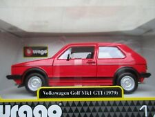 COFFRET MINIATURE GOLF GTI  MK1 1979 3 PORTES 1/24° ROUGE B BURAGO