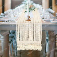 Macrame Table Runner Crochet Hollow Out Boho Wedding Reception Party Table Cover