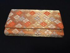 Japanese kimono orange bag for women, imported from Japan, good condition (D736)