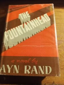 The Fountainhead  By Ayn Rand 1943 1st Ed Early Printing Blue Boards  Vintage hc