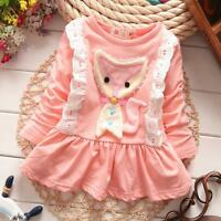 Newborn Baby Girl 100% Cotton Fashion Clothing Infant Toddler Baby Cute Dress