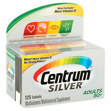 Centrum Silver ADULTS 50+ MULTIVITAMIN MULTIMINERAL SUPPLEMENT 125 Tablets