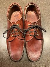 Orvis Gokey Moc Toe Pebbled Oxford Boat Shoes 10 D Brown Leather
