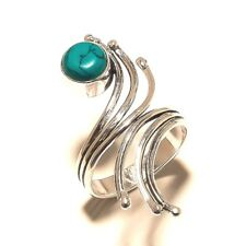 Beautiful Turquoise Free Shipping Silver Plated Gemstone Ring Jewellery Wp544