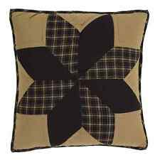 """Dakota Star 16x16"""" Quilted Accent Pillow With Fill Eight Point Star Black Khaki"""