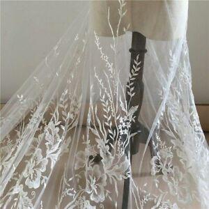 Fai da Te Ricamato Pizzo Floreale Applicazione Toppa Tessuto Sposa Abiti Craft