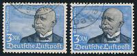 DR 1934, MiNr. 539 x und y, gestempelt, gepr. Dr. Oechsner, Mi. 655,-