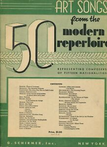 50 FIFTY ART SONGS from the MODERN REPERTOIRE for Piano G. Schirmer Inc. ©1939