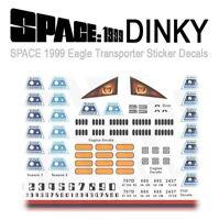 SPACE 1999 EAGLE - DINKY TRANSPORTER - STICKER DECAL MARKINGS - DINKY MODELS
