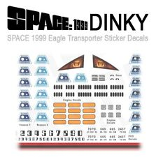 1 SET - SPACE 1999 EAGLE TRANSPORTER - STICKER DECALS - DINKY MODELS