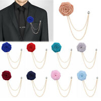 HOT Men's Rose Flower Brooch Lapel Suit Pin Wedding Party Fashion Accessories/