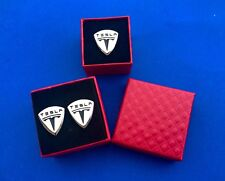 Tesla Cuff Links With Matching Lapel Pin Tesla Auto Cufflinks Tesla Pin