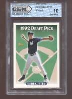 Derek Jeter RC 1993 Topps #98 New York Yankees HOF Rookie GEM MINT 10