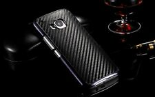 Premium New Luxury Carbon Fiber PU Leather Back Cover Hard Case  HTC One M9