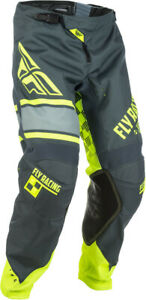 FLY RACING KINETIC ERA MX PANTS GREY/HI-VIS