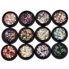 New Nail Art Colors Tip Drill Crystal Stones Rhinestone Beauty Decoration DIY