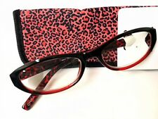 Vision Craft Clementine Red Reading Glasses W/Case +1.50 Strength
