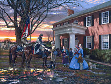"""Evening Orders In Strasburg"" by John Paul Strain S/N Military Civil War Print"