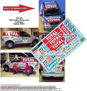 Decals 1/43 Ref 43103 Mercedes Mc Stone Lartigue Rally Paris Dakar 2001