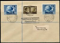 GERMANY WWII OFFICIAL MAIL CHANCELLOR/MUSSOLINI DUAL FRANKED COVER BALZANO MALS