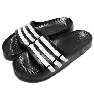 adidas Duramo Slide Black White Men Unisex Sports Sandals Slippers G15890