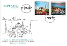 TURKEY/2020 - (FDC) Hagia Sophia Mosque (Architecture, Flower, Tulip), MNH