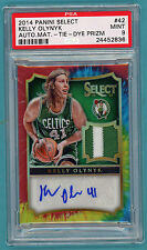 2014 Panini Select Kelly Olynyk Auto Game Used Issue - #42 PSA 9! Celtics! POP 1