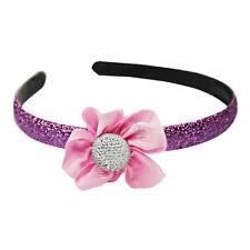 NEW Girls Doc McStuffins Glitter Purple Crystal Pink Flower Headband Dress Up