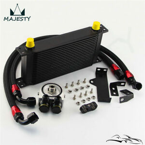 19 Row Engine Oil Cooler Kit For Subaru Impreza WRX STi 06-07 EJ20 EJ25 Black