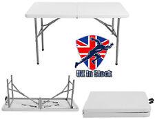4FT 120CM Folding Table Trestle Outdoor Camping Garden Pitch Portable Desk BBQ